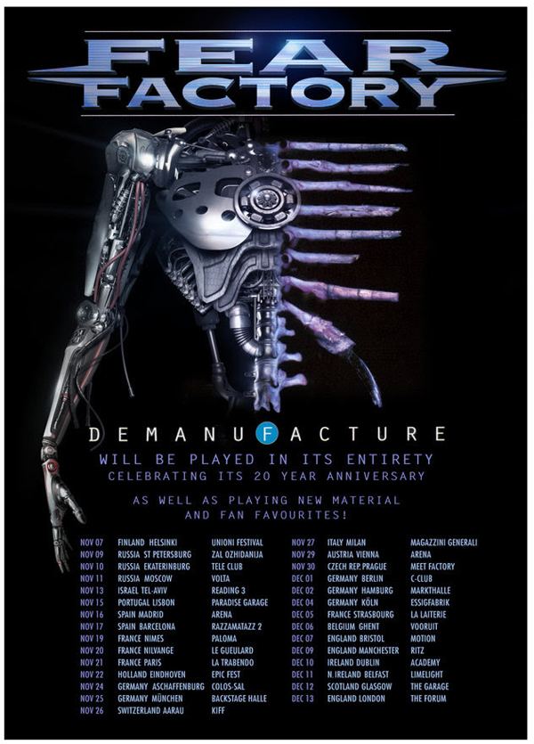 Fear-Factory-Demanufactured-20th-Anniversary-UK-European-Tour-Poster