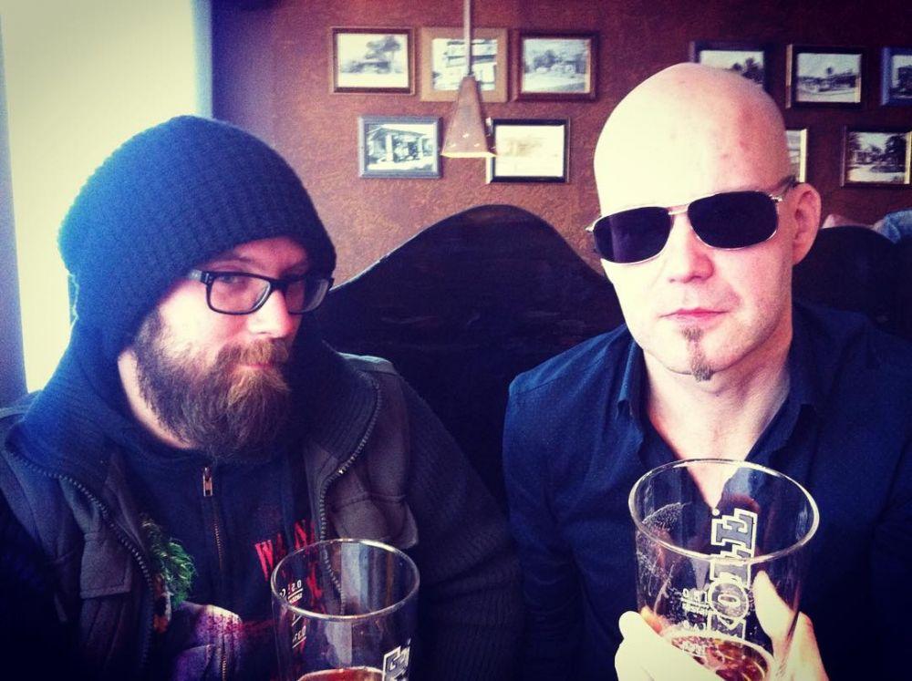 Kävimme haastattelemassa Swallow the Sunia. #swallowthesun #mikkokotomäki #markusjämsen #doommetal #deathmetal